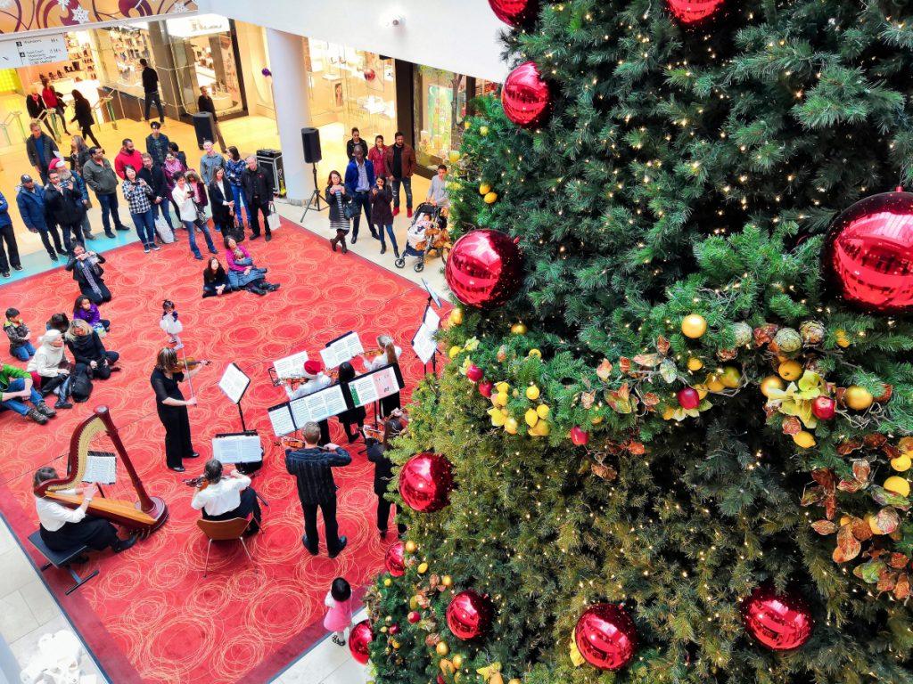 Christmas at the mall.