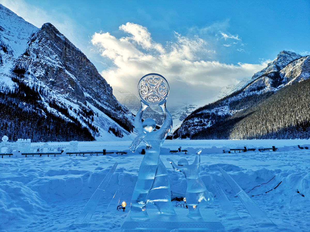 Ice Sculpture Lake Louise