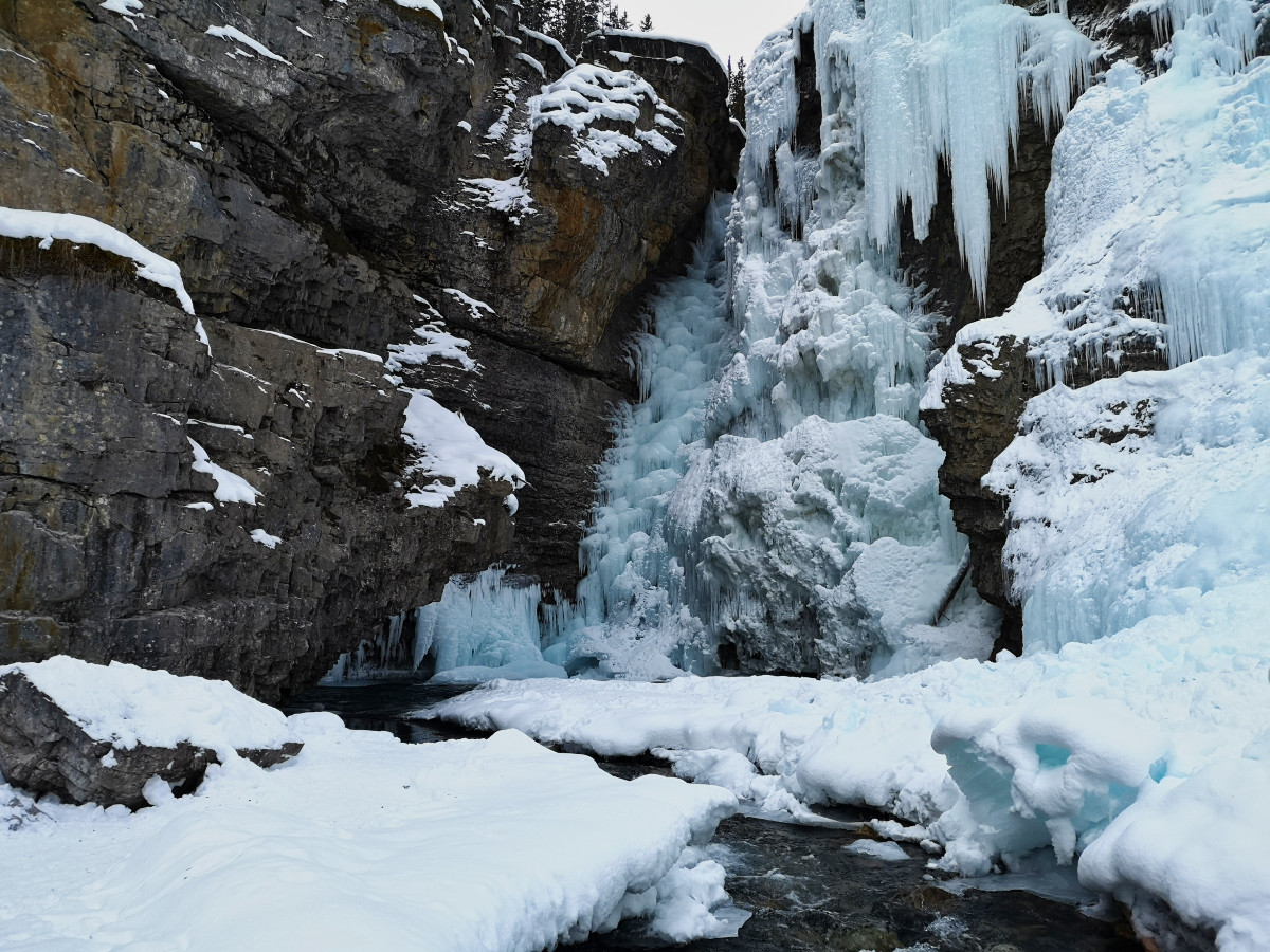 Upper Falls in Johnston Canyon