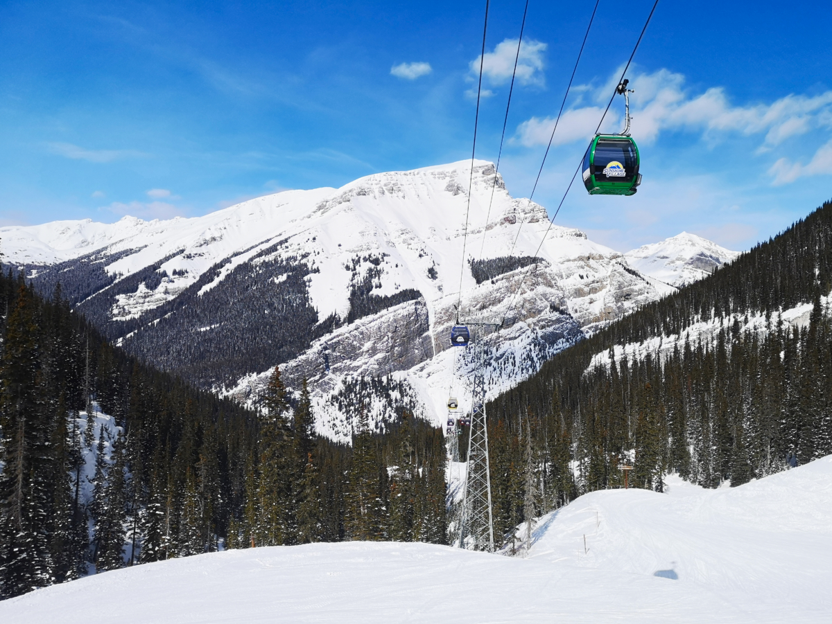 The gondola at Sunshine Village