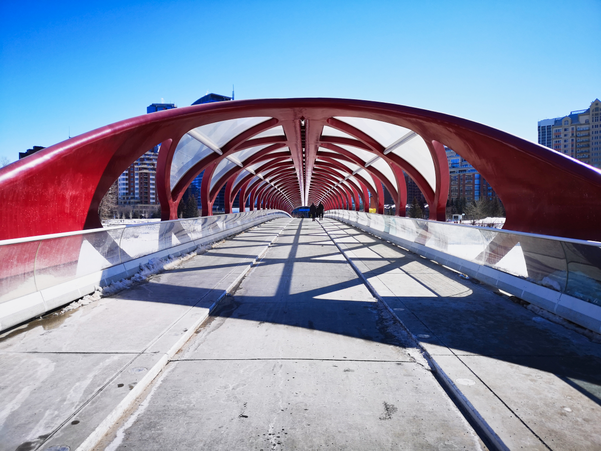 The Peace Bridge in Calgary