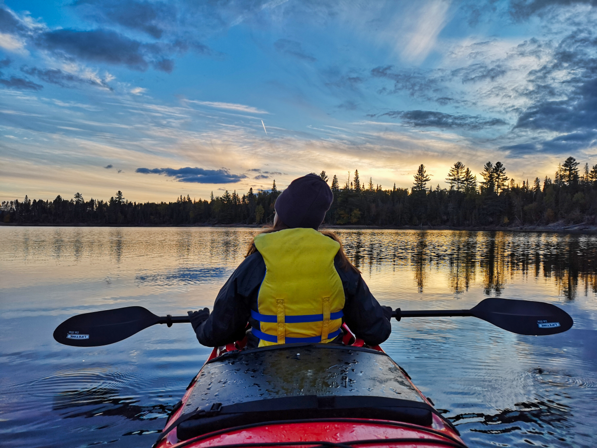 Kayaking for the first time