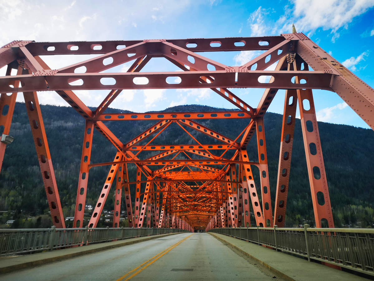 The Big Orange Bridge in Nelson BC