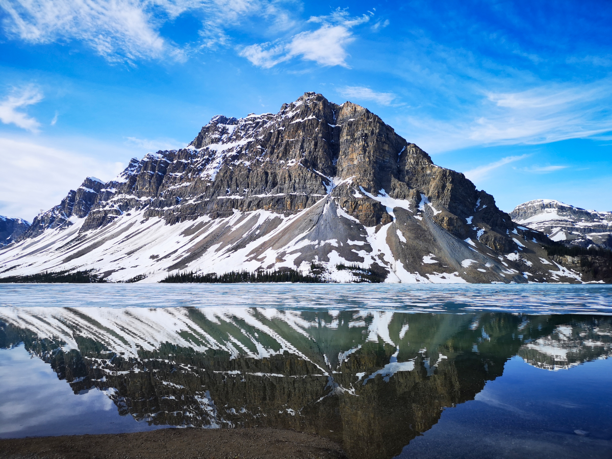 Bow Lake, a beautiful stop on the Icefields Parkway
