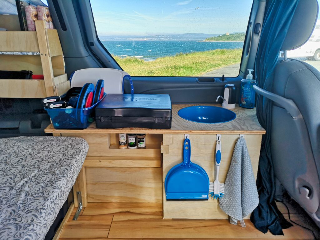 Kitchen in campervan