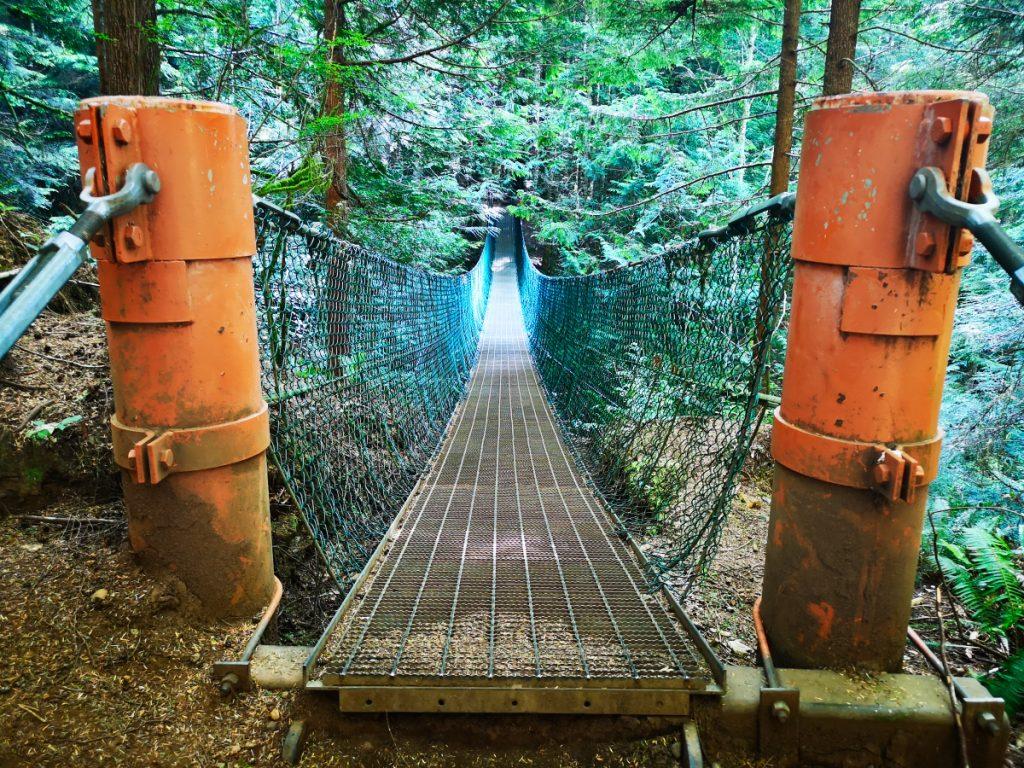 Suspension bridge on Vancouver Island