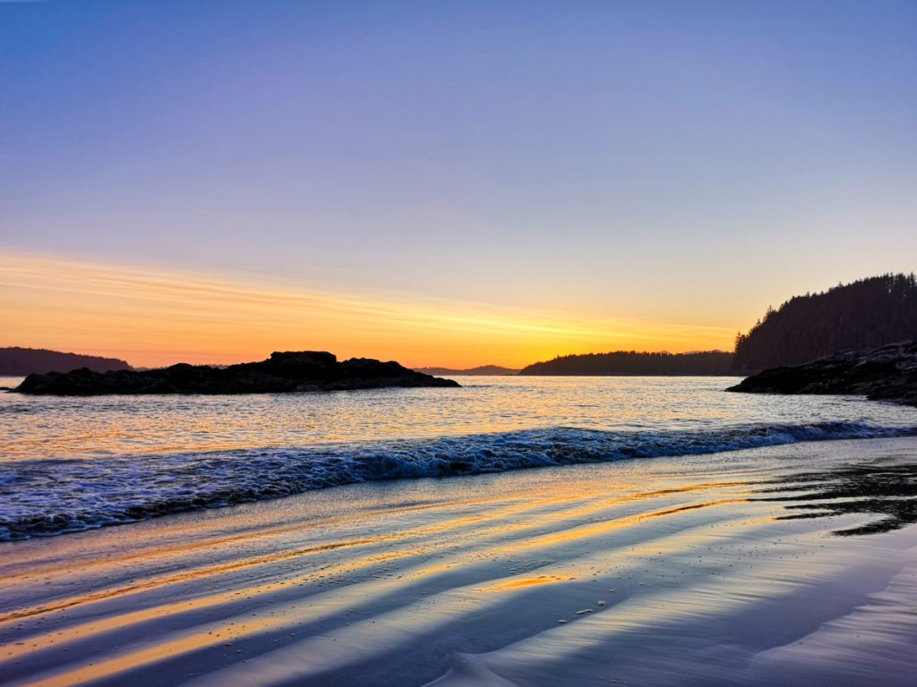Vancouver Island itinerary - sunset in Tofino