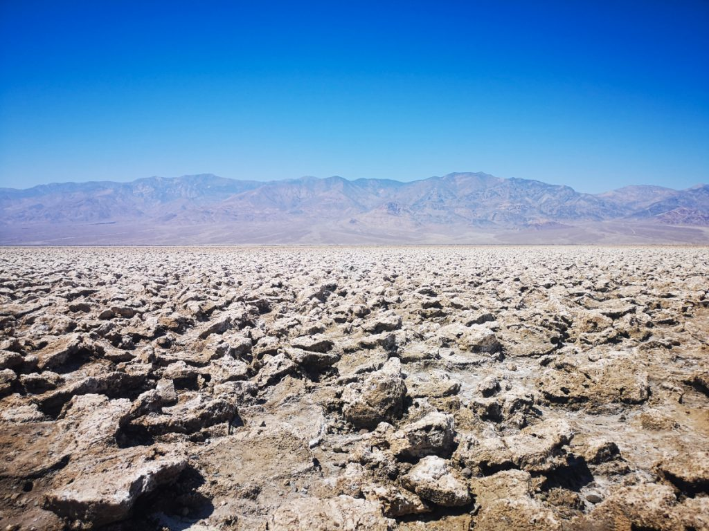 Devil's Golf Course on a Death Valley road trip