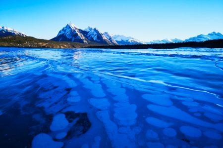 Alberta's Ice Bubble Lake