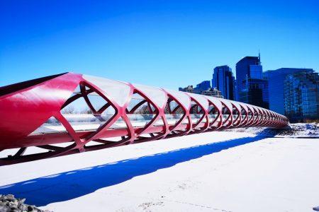 The Peace Bridge in Calgary
